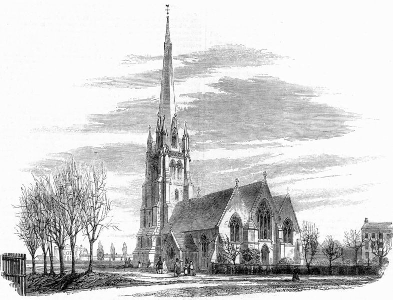 Christ Church in 1860